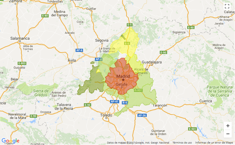 mapa madrid - Key areas to invest successfully in a house in Madrid