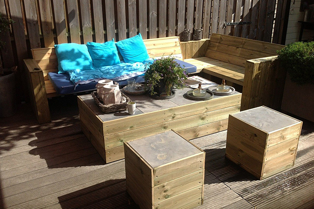 muebles palets - Easy, affordable ideas to decorate a terrace