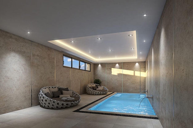 piscina interior - For Sale One of the Most Spectacular Villas in Alicante with Incredible Sea Views