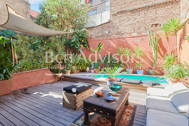 piscina terraza barcelona - This spacious flat with a swimming pool in Barcelona is ideal for relaxing and enjoying the city