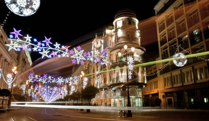 portadanavidadsevilla - The shiniest five cities at Christmas of Spain
