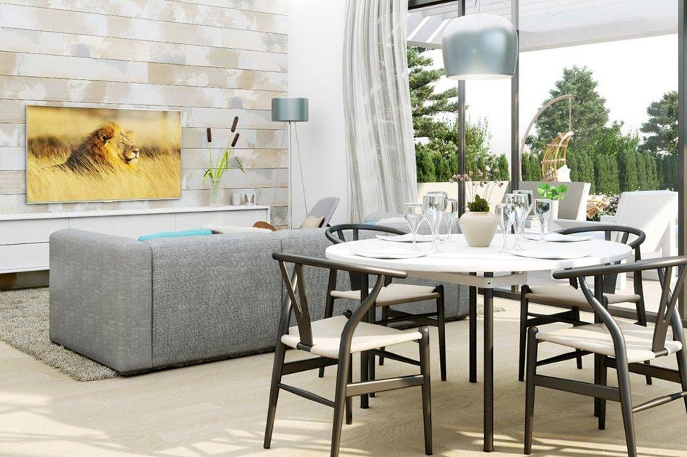 salón 3 - Stunning modern villa in Alicante with extensive green areas