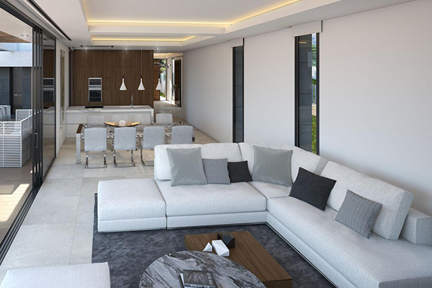 salon comedor 3 - For Sale One of the Most Spectacular Villas in Alicante with Incredible Sea Views