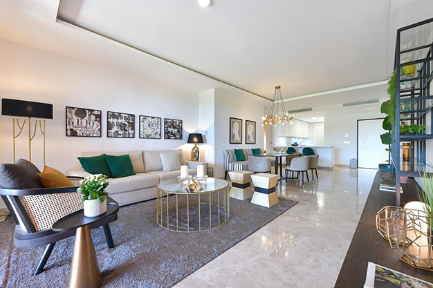 salon marbella - This apartment for sale in Marbella is the perfect home to live in a unique natural environment and be happy