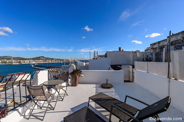 terraza 2 ibiza - Apartment facing the harbour in Ibiza: absolute maritime charm