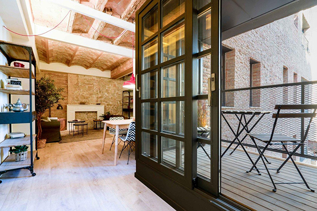 terraza barcelona raval - Modern apartment in Barcelona city centre ideal for those seeking a unique style