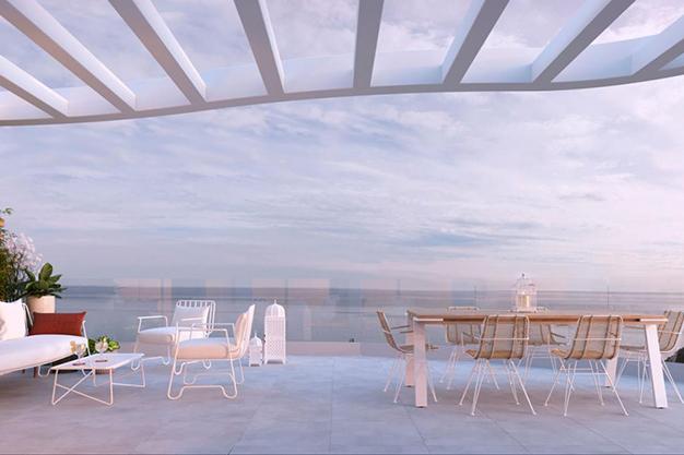 terraza con vistas al mar inmueble costa del sol - Luxury flat on the Costa del Sol where you can start a whole new life