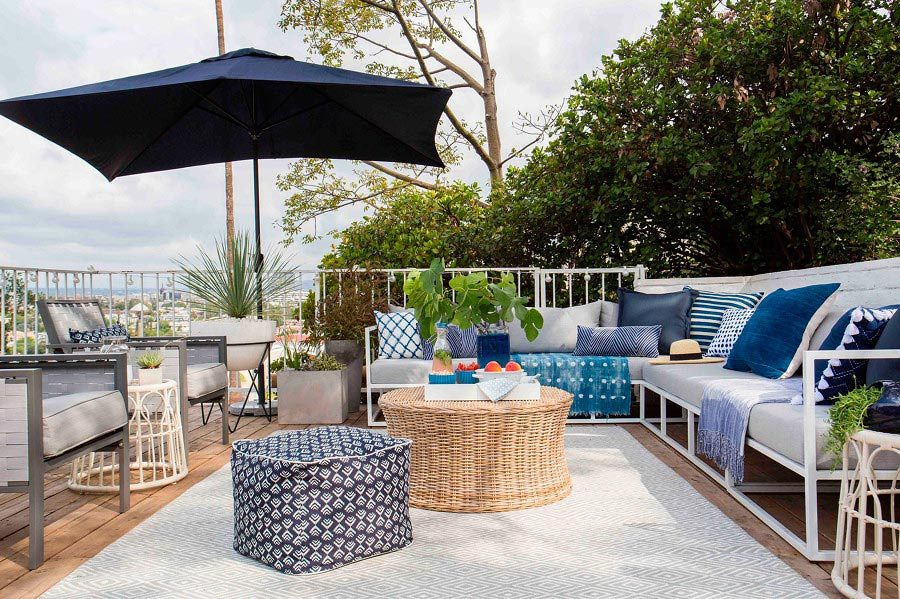 terraza en azotea en tonos azules 1469922 - The perfect terrace: How to decorate?