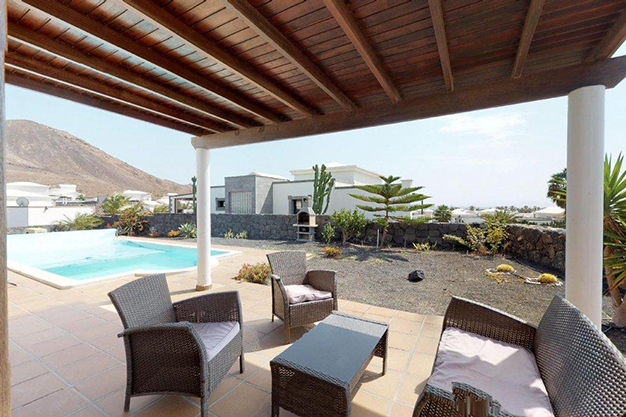 terraza lanzarote 2 - Villa with pool in Lanzarote: panoramic views on a unique island