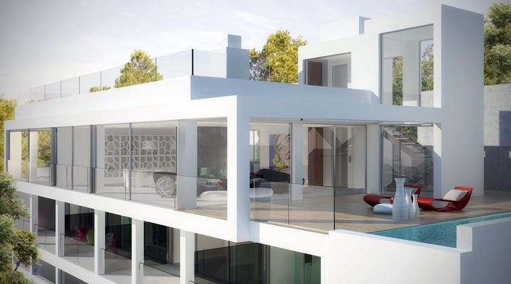ultra modern house in Ibiza3 - Architecture in Spain: Ultra Modern House in Ibiza