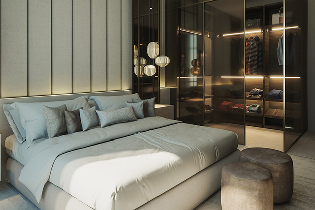 vestidor cristal - How to make a dressing room in any spot of your home