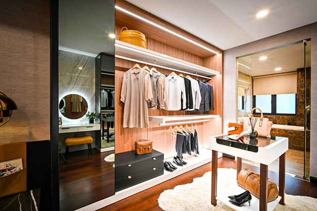 vestidor lujo - How to make a dressing room in any spot of your home