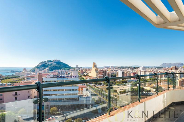 vistas atico cerca de la playa en Alicante - Spectacular penthouse near the beach in Alicante: sea and mountains within reach of your eyes